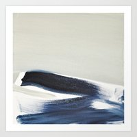 BRUSH STROKES III Art Print