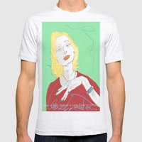 Clarice Lispector Mens Fitted Tee Ash Grey SMALL