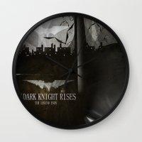 Dark Knight Rises Movie … Wall Clock