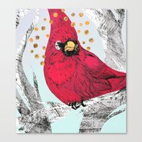 Cardinal Thoughts Canvas Print