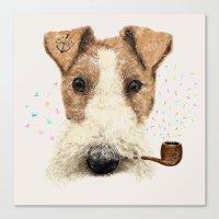Fox Terrier Sailor Canvas Print
