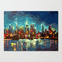 Abstract NYC Skyline Canvas Print