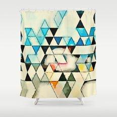 Geometric W1 Shower Curtain