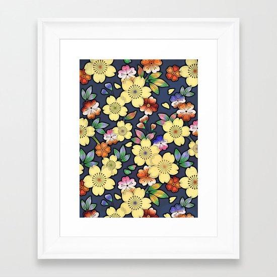 Blossom Yellow Framed Art Print