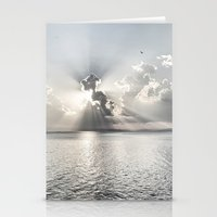 When the sun sets... Stationery Cards