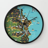 Mapping  Milwaukee Wall Clock