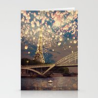 Love Wish Lanterns Over … Stationery Cards