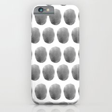 Watercolour polkadot black Slim Case iPhone 6s