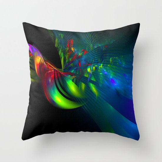 Fractal Bird Throw Pillow