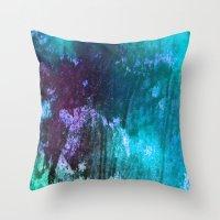 Blue Stems Throw Pillow