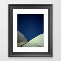 Opera House Polaroid Framed Art Print
