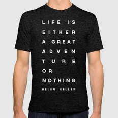 Adventure or Nothing Mens Fitted Tee Tri-Black SMALL