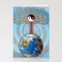 Balanced Earth Stationery Cards
