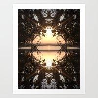 Disc Lake Art Print