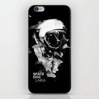 Space Dog iPhone & iPod Skin