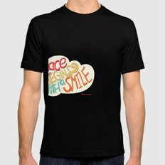 Peace begins with a smile SMALL Black Mens Fitted Tee