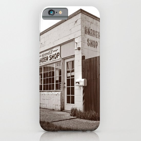 Neighborhood barber shop iPhone & iPod Case