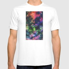 Fractal Space Mens Fitted Tee SMALL White