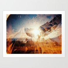 Flying is Made of the Sky, Sun and Stars Art Print