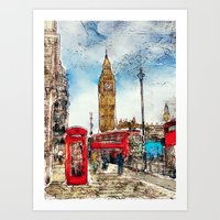 London Icons Art Print