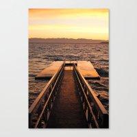 Willingdon Dock Canvas Print