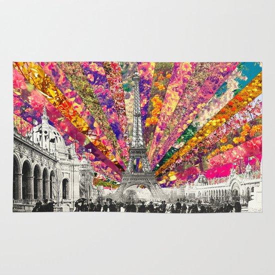 Vintage Paris Area & Throw Rug