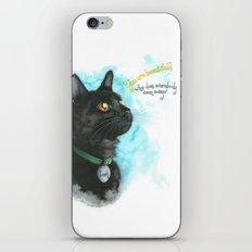 Black Cat-2 iPhone & iPod Skin