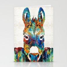 Colorful Donkey Art - Mr… Stationery Cards