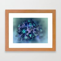 FLOWERS -Blue Blossoms Framed Art Print