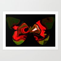 Abstraction butterfly Art Print