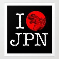 I Love Japan Art Print