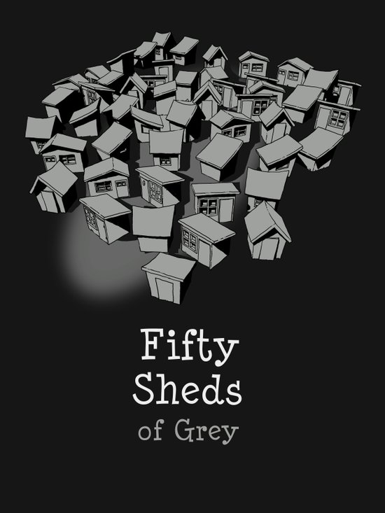 50 Sheds of Grey Canvas Print