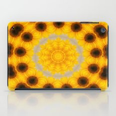 Sunflower and Bee Abstract iPad Case