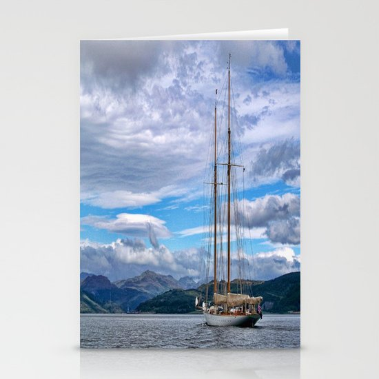 Schooner on the River Clyde Stationery Card