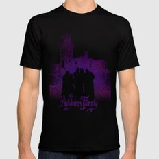 The Addams Family Mens Fitted Tee Black SMALL