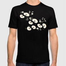 BUDDHAS POND Mens Fitted Tee Black SMALL