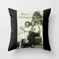 Merry Christmas From Us … Throw Pillow