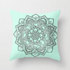 sea foam mandala Throw Pillow