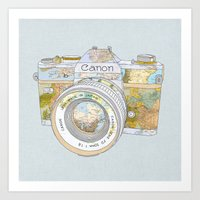 Travel Canon Art Print