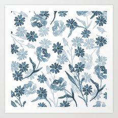 Paint it Blue Art Print