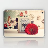 Retro Camera And Red Flo… Laptop & iPad Skin
