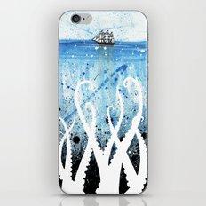 Kraken Watercolor iPhone & iPod Skin