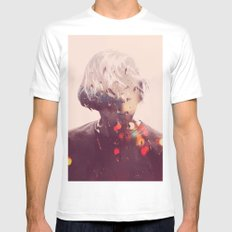 Showers (Double Exposure) White SMALL Mens Fitted Tee