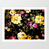 roses Art Prints featuring  Roses  by Saundra Myles