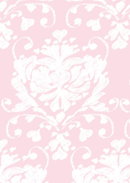 giving hearts giving hope: pink damask Art Print