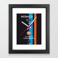 Monaco Tag Heuer Watch, Steve McQueen Le Mans Vintage Poster Decoration Framed Art Print