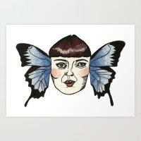 butterfly lady. Art Print