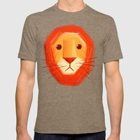 Sad Lion Mens Fitted Tee Tri-Coffee SMALL