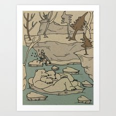 Frozen Hearts Art Print