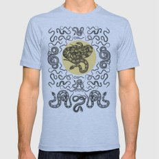 Snakes Pattern Mens Fitted Tee Athletic Blue SMALL